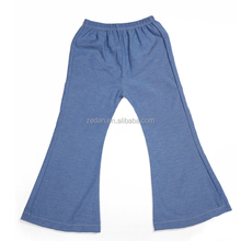 The newest design for girl hot stretch long bell-bottoms jean pants in solod color elestic in waistband