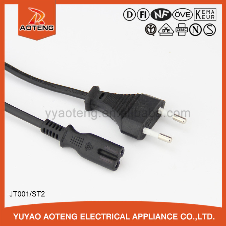 european standard vde approval two or three core 0.75 or 1.0mm2 AC power plug extension cords vde ac power cord