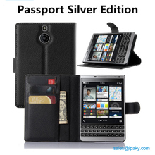 Shenzhen Factory Wallet Flip Leather Mobile Phone Case For Blackberry Passport