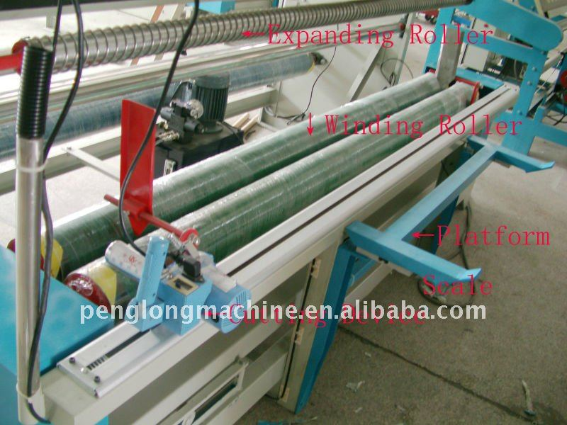 Automatic Tensionless Fabric Inspecting Rolling Machine, Textile Inspection Equipment for woven and knitting fabric
