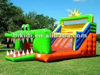 Crocodile water slide, giant inflatable slide for sale B4019