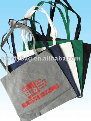 Promotional pp non woven tote bag with length handle