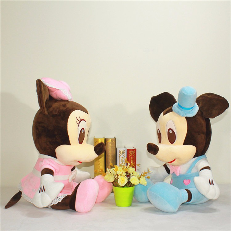 Couples mickey mouse plush cartoon toys/stuffed pp cotton animal toys/plush toy keychain custom