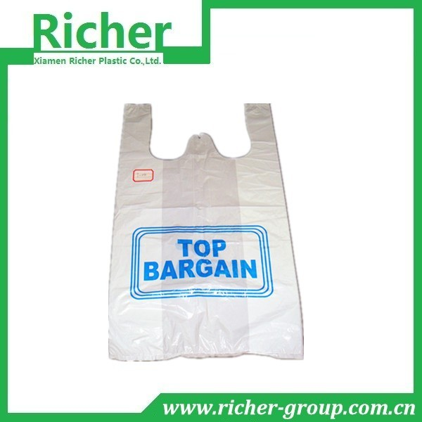 Gift Packing Designer Plastic T Shirt Bags With