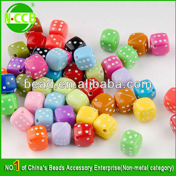 Acrylic colored accessories beads for DIY