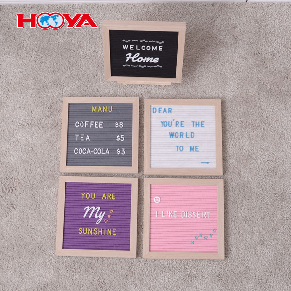 12X12 inch vintage felt changeable letter board including 290 plastic letters and wooden frame