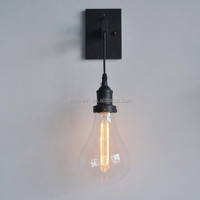 Black Iron wall lamp/glass lampshade/ modern design