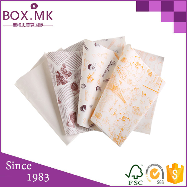 Logo Custom Cooking Parchment Paper Wax Paper