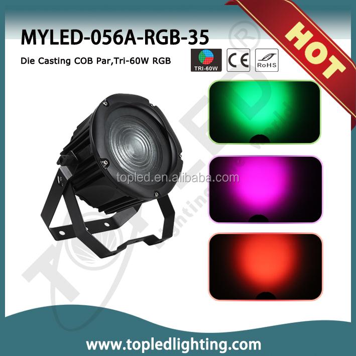 COB Tri-60W RGB LED COB Par Light
