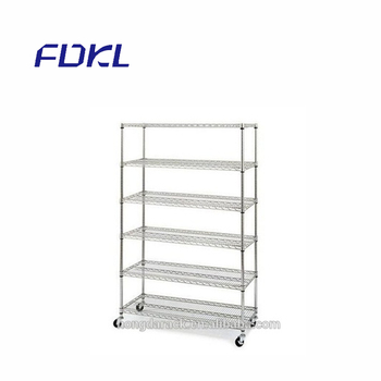 Good quality stainless steel and chrome storage shelving 4 tier shelf, top Hot!
