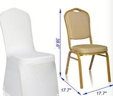 Decorative Removable Polyester Banquet Wedding Party Seat Chair Cover Slipcover