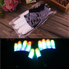 Creative 7 Mode LED Finger Lighting Flashing Halloween Christmas Gloves Rave Light,Party Supplies Luminous Cool Gloves