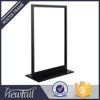 Table top commercial menu sign holder