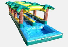 Tropical Dual Lane Inflatable Slip and Slide