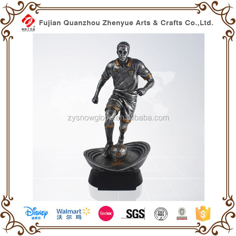 Customized soccer player figure .