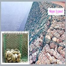Wire cage basket for stone/Rock retaining wall