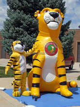 Advertising giant inflatable tiger/inflatable animal cartoon replica for advertising