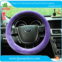 factory price winter car steering wheel cover made of sheepskin wool