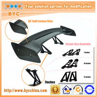 Dreamer Car Universal Carbon Fiber Tuning Spoiler 145cm Long with 7 Inches Aluminium Stands