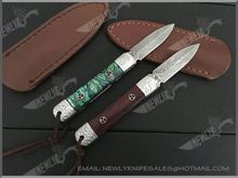 2017 Laguiole Knives Damascus Steel Knife Hunting Knife