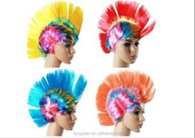 New Halloween make up cosplay party hair wig world cup football sports team fans wig Spike Mohawk Wig
