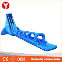 Inflatable water slide, airtech inflatable water slip n slide