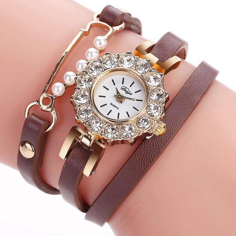 Fashion Bracelet Watches Top Duoya Brand Leather Band Ladies Casual Quartz Wrist Watch