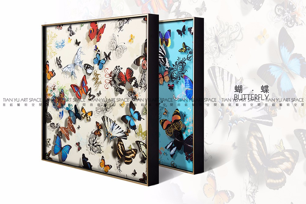 2016 Butterfly framed art decorative art wall nature pictures for drawing