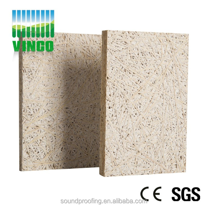 wood hexagon tiles fiber cement board wood wool acoustic panel for auditorium wall sound insulation and decoration