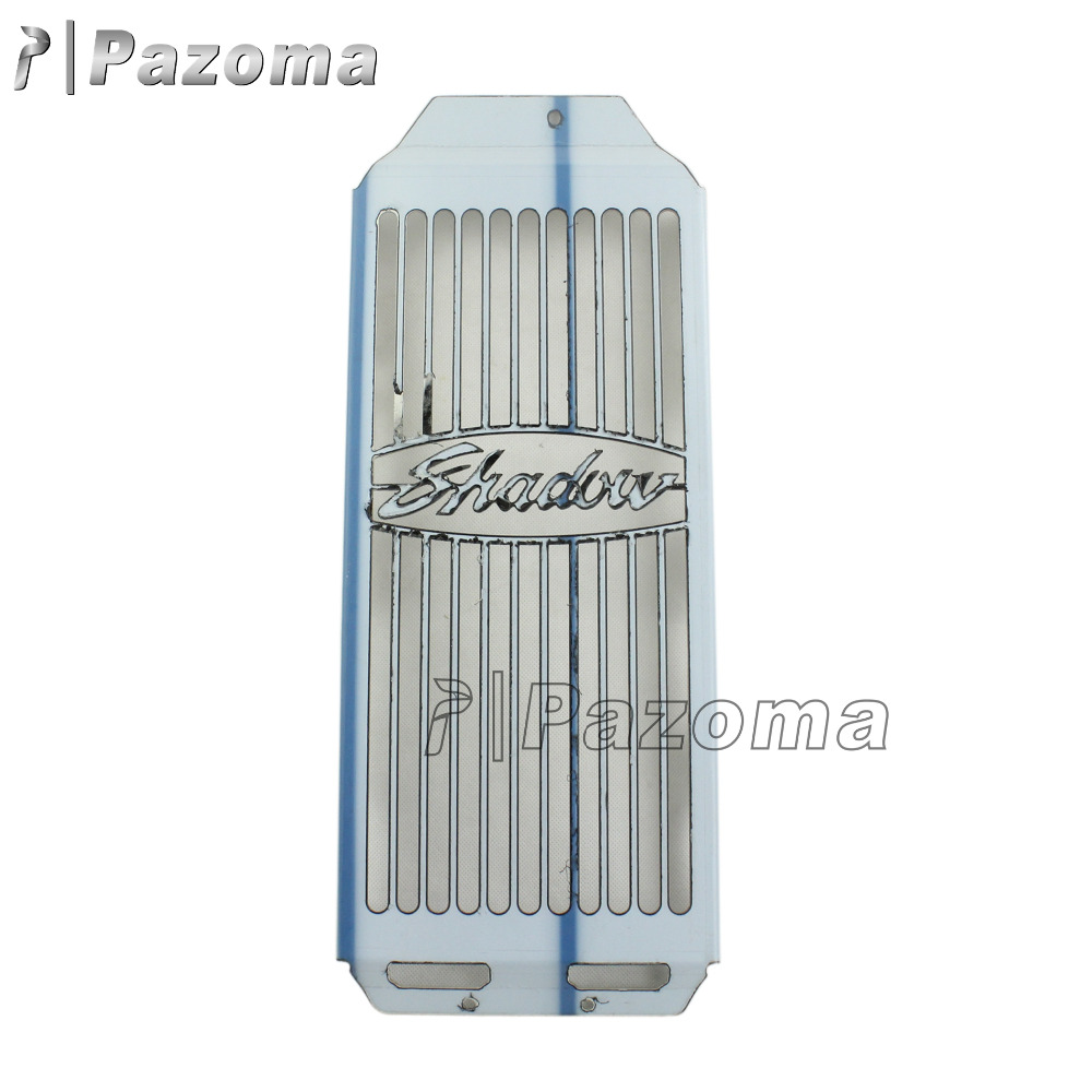 New Design Factory Price Pazoma Motorcycle Steel Radiator Grill Grille Cover For Honda Shadow Aero VT400 VT750 2004-2011