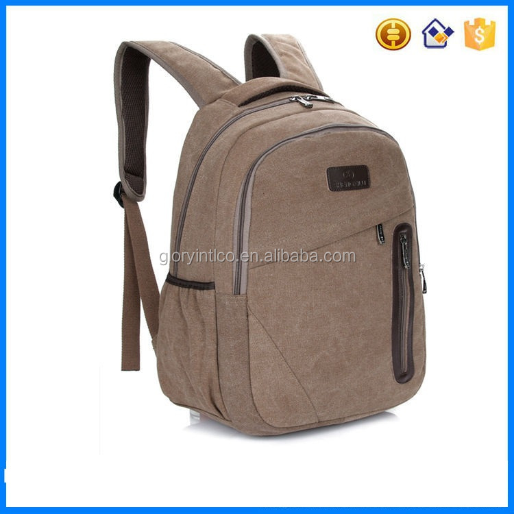 Sports traveling Canvas blue backpack women rucksack bag in high quality