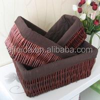 3set square/ mini/ wicker/ inexpensive/ wicker basket