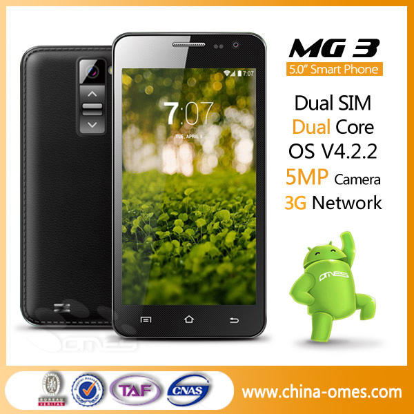 OMES MOBILE MG3 5 inch Android 4.4 Kitkat Dual Core Dual Sim SHENZHEN Mobile Phone Manufacturer