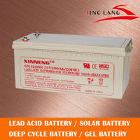 Deep cycle rechargeable lead acid battery 12V 200Ah for ups
