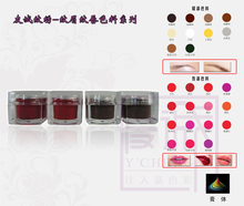 Professional tattoo eyebrow microblading pigment and permanent make up tattoo ink