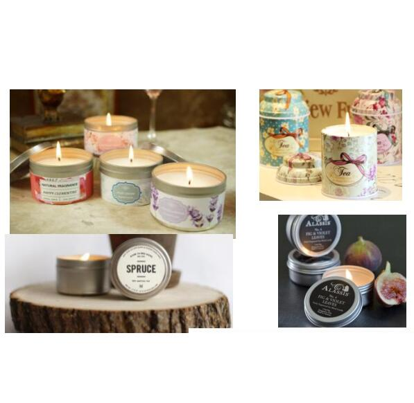 Small Round Seamless Tin Candles Round Tin Candles