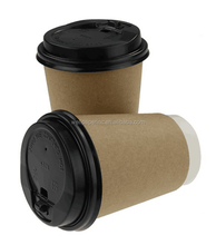 Paper Coffee Hot Cups, Travel Lids, Sleeves & Stirrers -12oz / 360ml - WHITE - Office/Party Pack - to go Coffee Cups