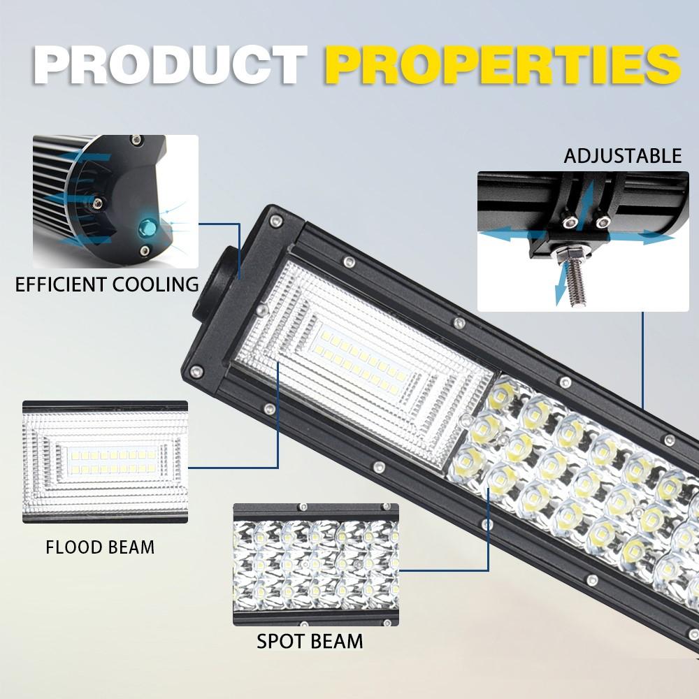 Hot-vente IP68 22 pouces Tri-Rangée LED Barre lumineuse barre de lumière offroad 270 w Usine pas cher prix
