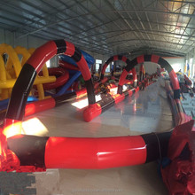 Hot sale go kart track inflatable track inflatable race track