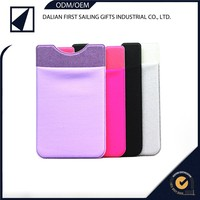 Customized portable smart phone accessory 3M silicone sticky mobile card holder