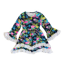 Yawoo wholesale infant baby flower boutique dress 10 year old girl dresses for party