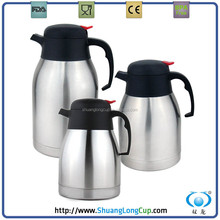 Flat Cap Stainless Steel Thermal Carafe, Thermos Coffee Pot, Thermo Tea Pot