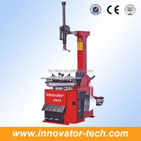 Automatic tire mounting machine for tire changing with tilting back post model IT613