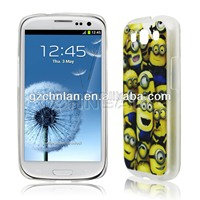 Funny despicable me minion case for samsung s3 hard case