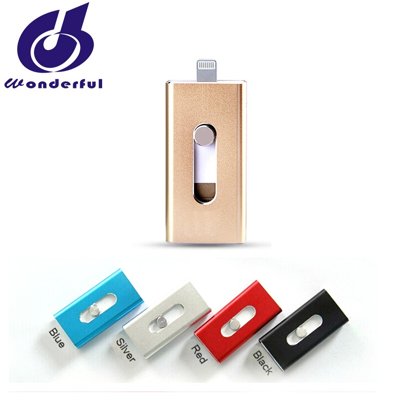 3 in 1 OTG USB Flash Drive For Iphone,Samsung,PC, accept custom logo free