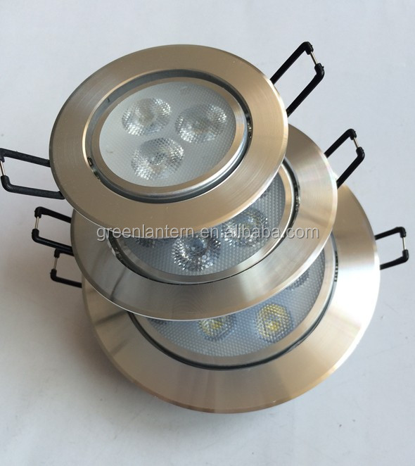 3w warm white dimmable recessed led ceiling light 110v 220v