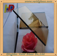 2-19mm tempered tinted glass,stained glass for building
