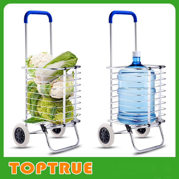 Aluminum Disabled Trolley Foldable Shopping Cart