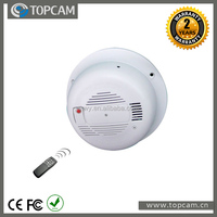 Spy Color Camera On A Working Smoke Alarm With Digital Video Recorder DVR Motion Detection