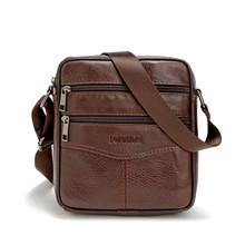Custom Men shoulder bags Cowhide leather small messenger bag men leather bag